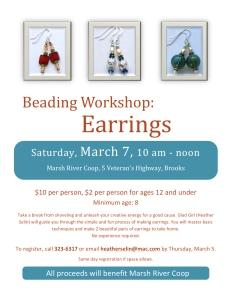 Beading Earrings March 7 Flyer