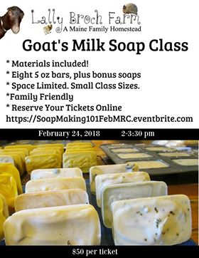 Soap Making with Lally Broch Farm Feb 24th – Marsh River